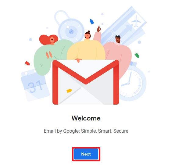 مرحله 8 ساخت gmail